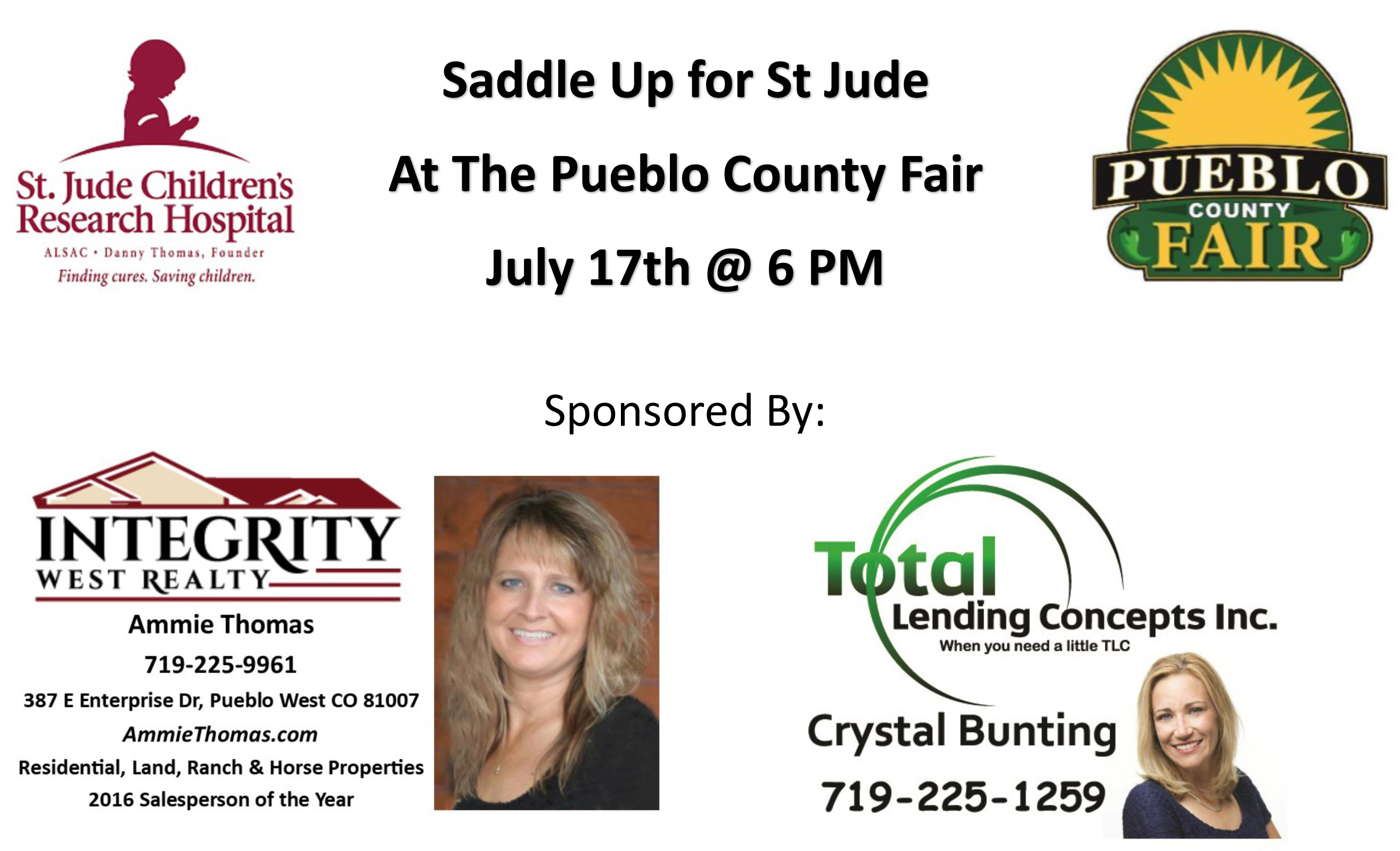 Saddle Up for St Jude at the Pueblo County Fair 2018